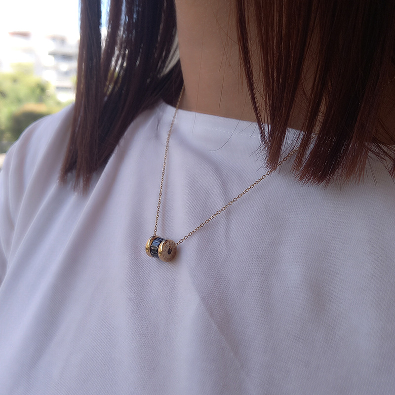 jewels kallirroi gr faux bijoux piraeus eshop on line φο μπιζού κολιέ αλυσίδας ατσάλινο χρυσό flora gold neckles
